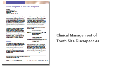 Publication Tooth Size Discrepancies